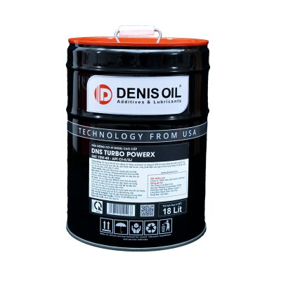 DNS TURBO POWERX  SAE 15W40, API CI-4/SJ dầu nhờn động cơ Diesel turbo tăng áp và công suất lớn